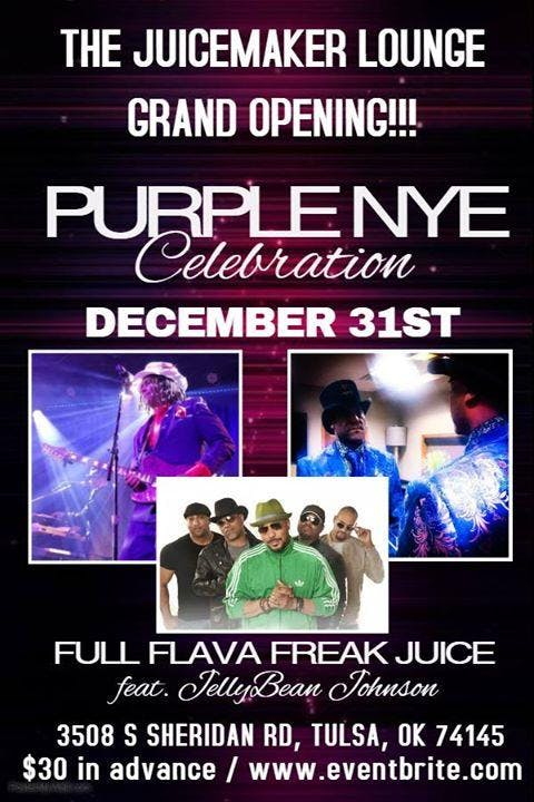 Juicemaker Lounge Grand Opening Purple New Years Eve Bash