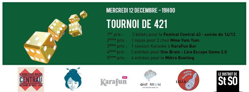 Tournoi de 421 / Bistrot de St So