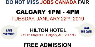 CALGARY JOB FAIR – January 22nd, 2019