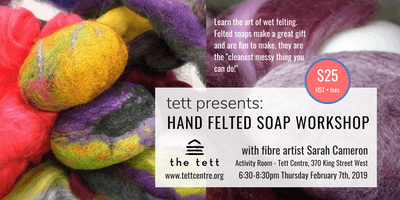 Hand Felted Soap Workshop with Sarah Cameron