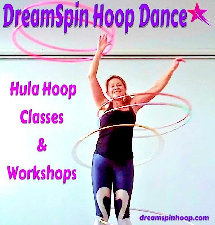 Hula Hoop  For Beginners Workshop with DreamSpin Hoop Dance image