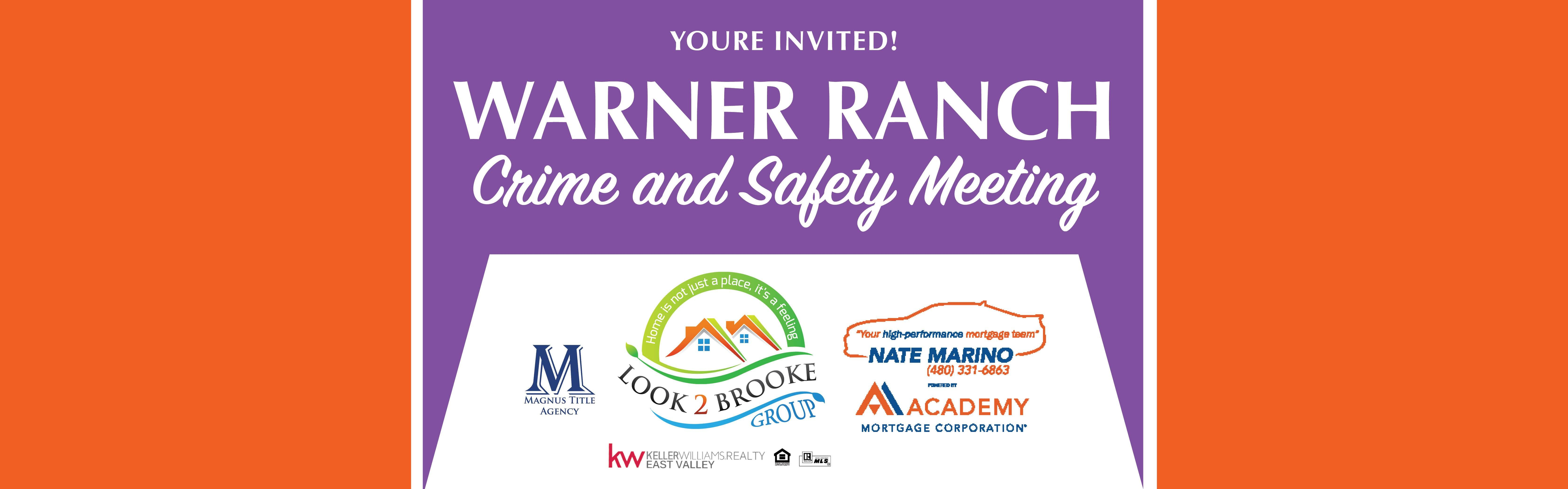 CRIME AND SAFETY MEETING - Warner Ranch