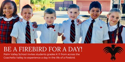 Be a Firebird for  a Day: Shadow at Palm Valley School