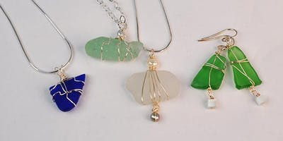 Wire Bound Seaglass Jewelry with Art Night Out
