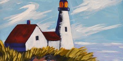 Paint Portland Head Light Step-by-Step with Art Night Out