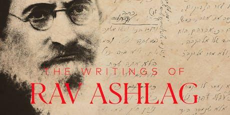 The Writings of Rav Aslag 2019 tickets