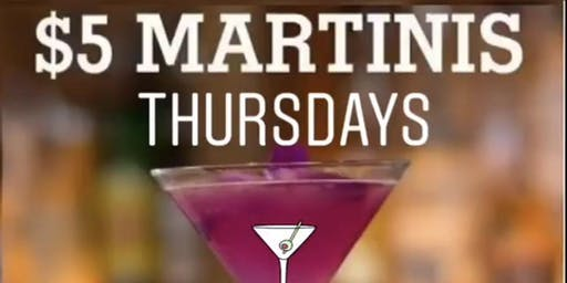 $5 Martini Thursdays at Redwood Luxe (House, Old School Hip Hop and R&B)