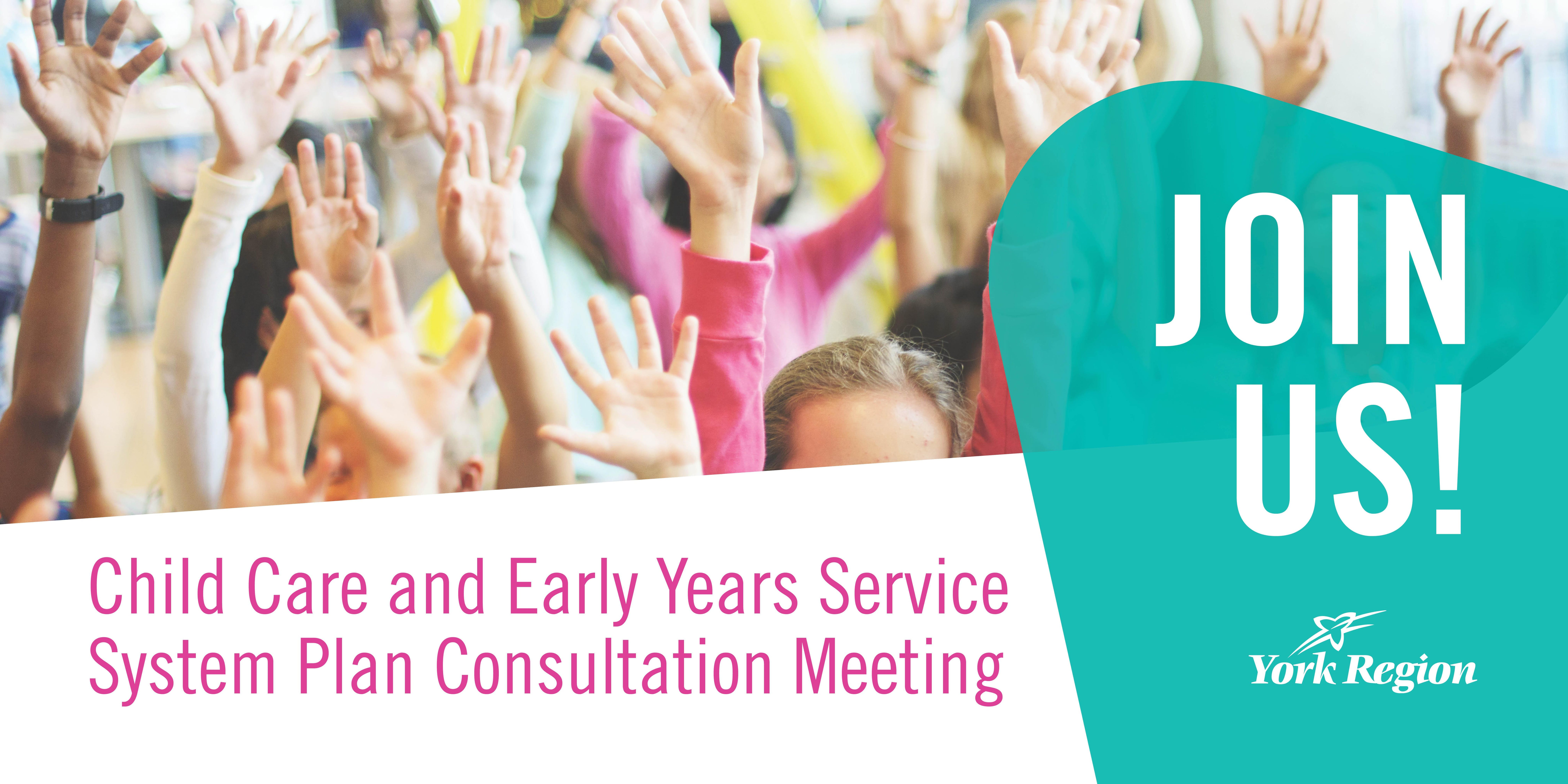 Child Care and Early Years System Service Pla