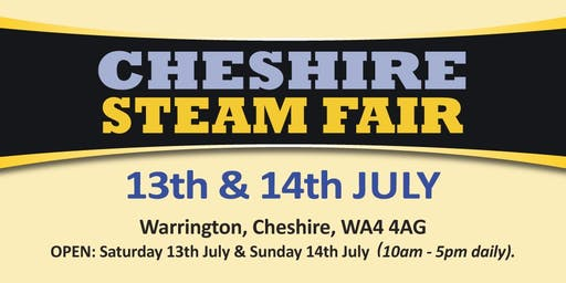 Cheshire Steam Fair 2019 (Buy Tickets)