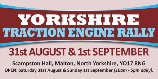 Yorkshire Traction Engine Rally 2019 (Buy Tickets)