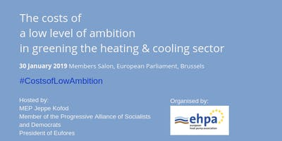 Lunch debate: The costs of a low level of ambition in greening the heating & cooling sector