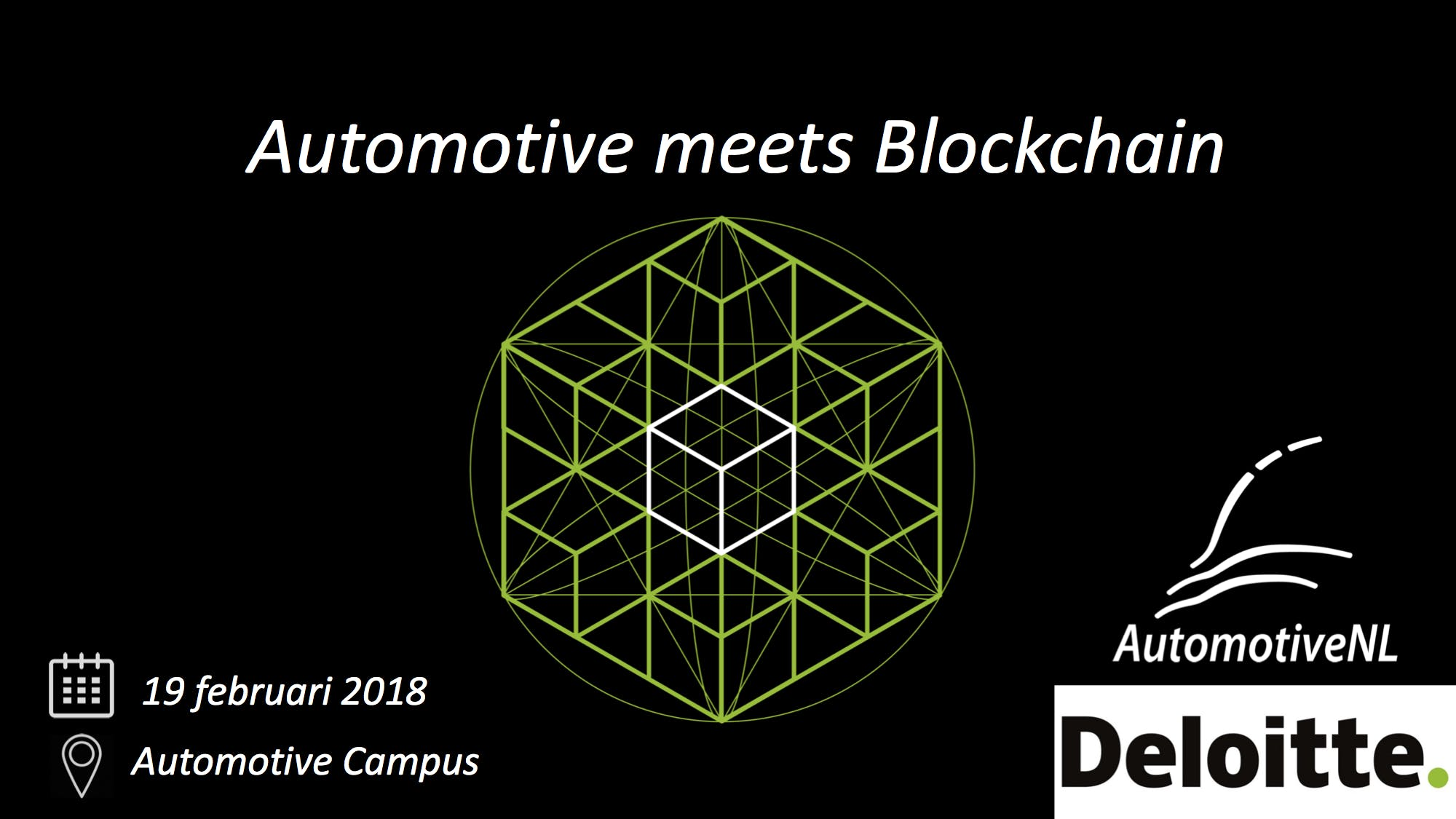 Automotive meets Blockchain, Accelerating dis