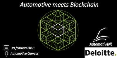 Automotive meets Blockchain, Accelerating disruption in the automotive market with blockchain technology