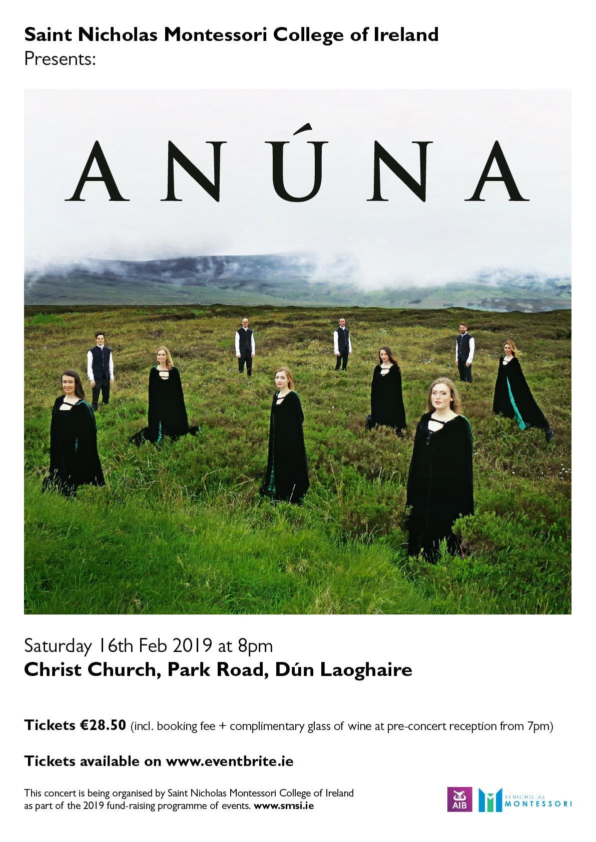 ANÚNA in Concert - presented by St. Nicholas Montessori College of Ireland