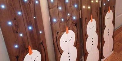 Light Up Wooden Snowman Workshop