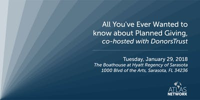All You've Ever Wanted to know about Planned Giving, co-hosted with DonorsTrust