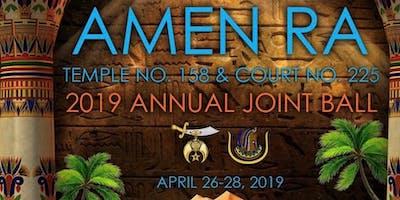 Amen Ra Temple No. 158 & Amen Ra Court No. 225- 2019  Annual Joint Ball