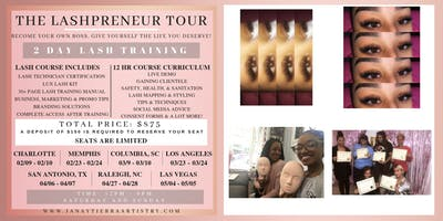 2 DAY LASH TRAINING - HANDS ON & DETAILED