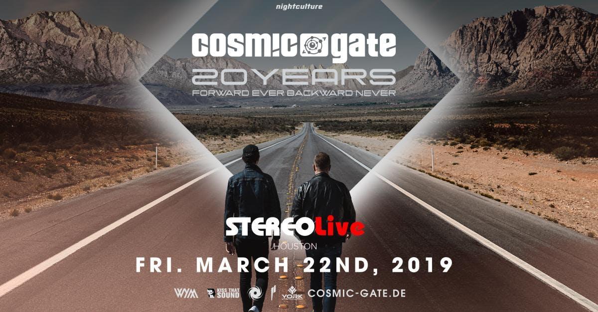 Cosmic Gate: 20 Years - Houston