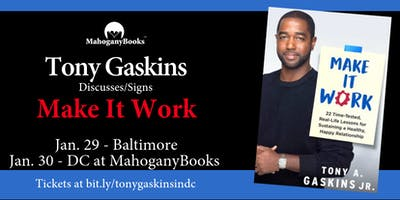 MahoganyBooks Presents:  Tony Gaskins LIVE!  Book Talk + Signing
