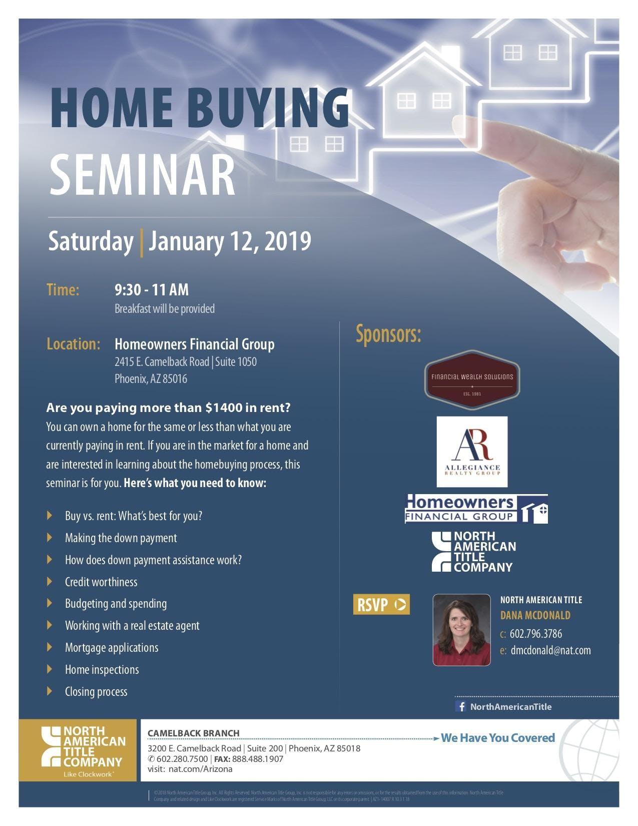 home buying seminar 12 jan 2019