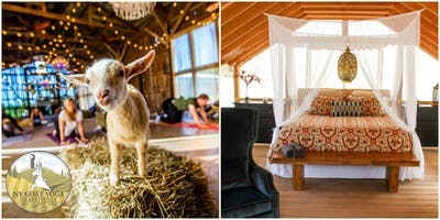 2019 NY Goat Yoga Glamping Retreat for Two at Gilbertsville Farmhouse - All-Inclusive/2 nights