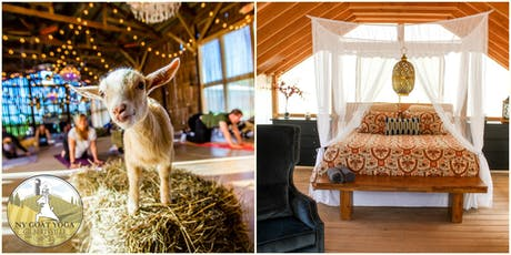 2019 NY Goat Yoga Glamping Retreat for Two at Gilbertsville Farmhouse - All-Inclusive/2 nights tickets