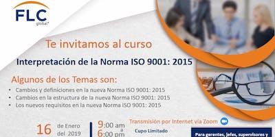Curso ISO 9001:2015 - Interpretación de la Norma