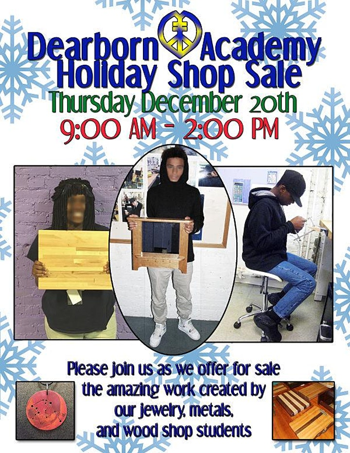 Dearborn Academy Holiday Arts & Crafts Sale image