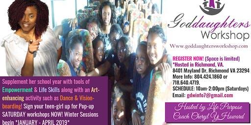 Goddaughters Workshop Saturday Pop up Teen Girl Mentoring