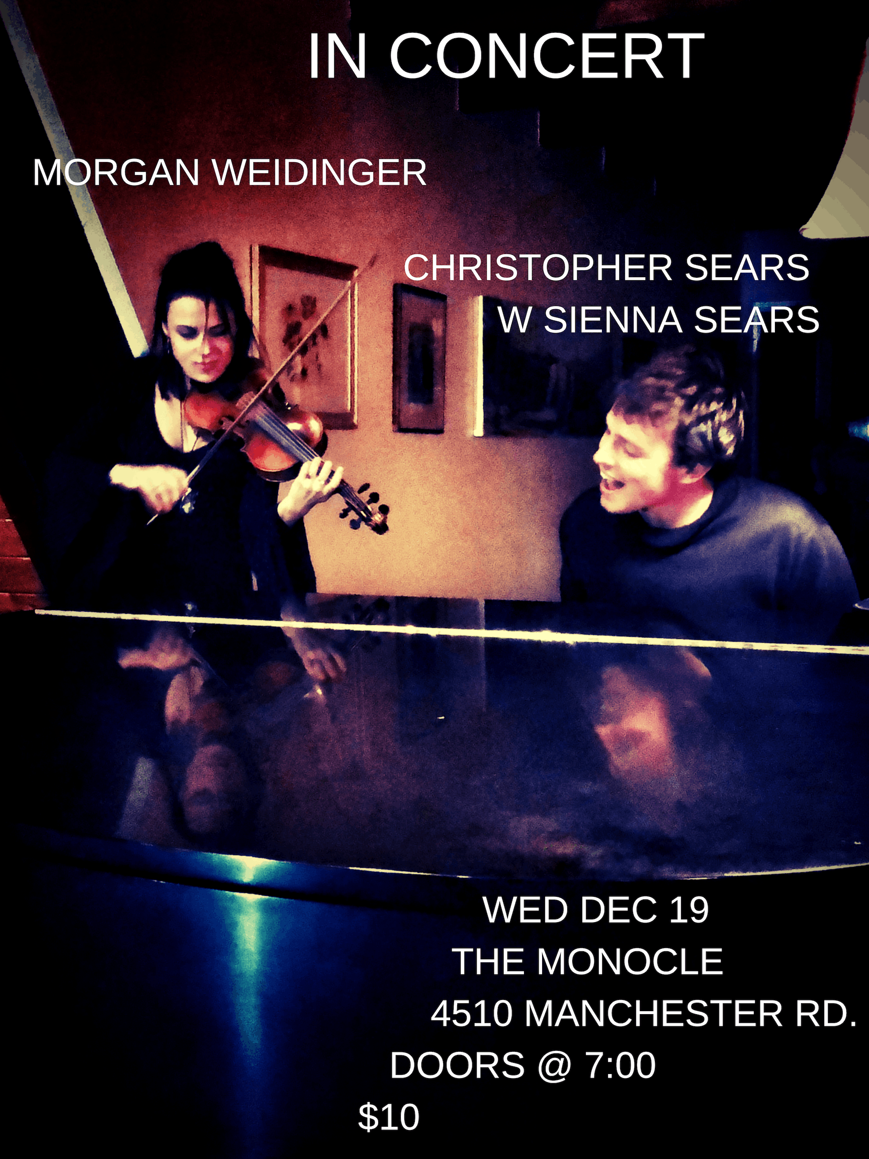 Morgan Weidinger & Christopher Sears LIVE in