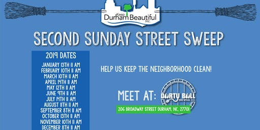 Second Sunday Street Sweep with Keep Durham Beautiful
