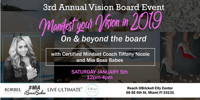 VISION BOARD PARTY -Manifest Your Vision in 2019