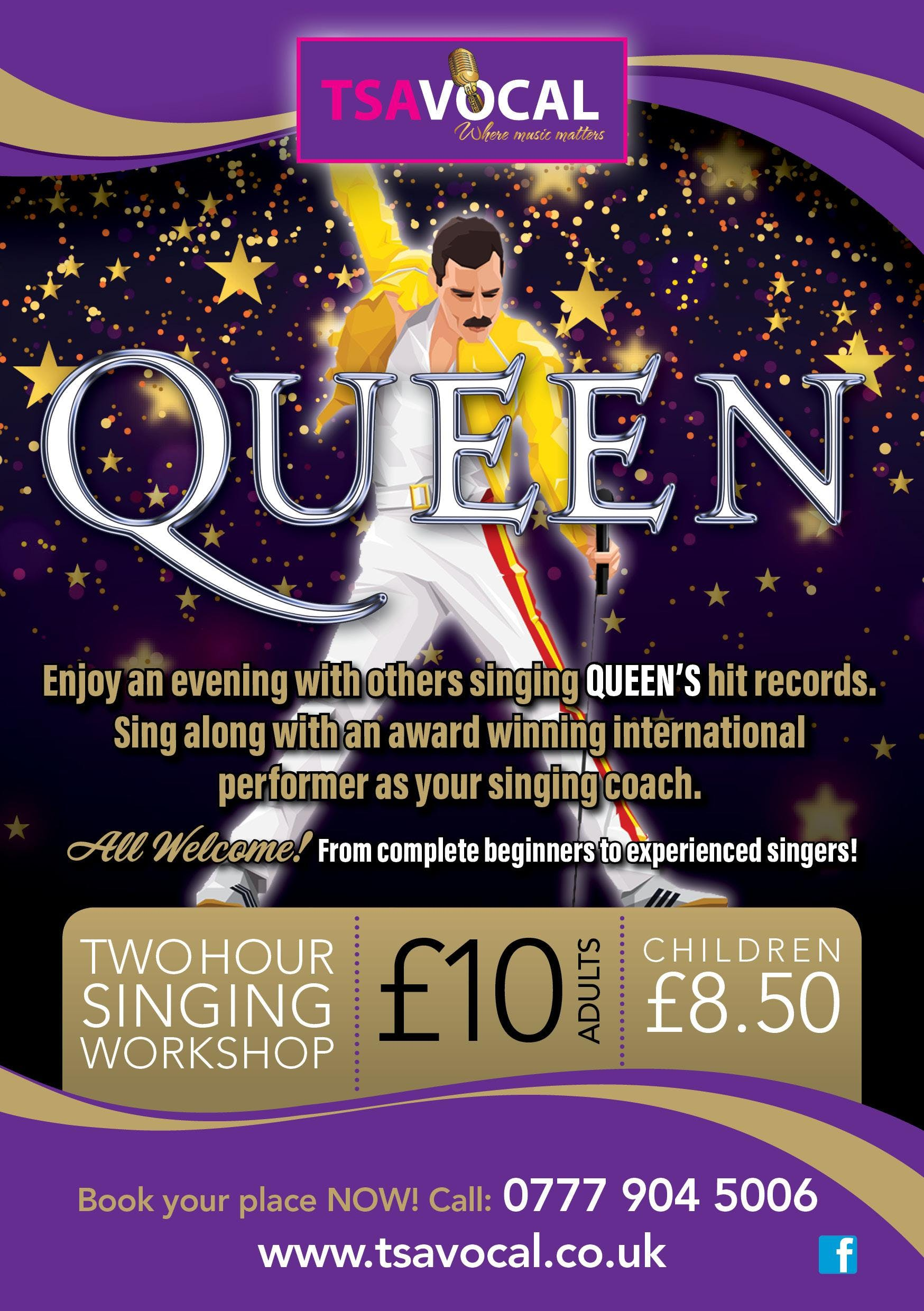 Queen Vocal Workshop Derby