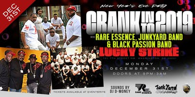 Crank in to 2019 with Rare Essence, Junkyard Band & Black Passion at Lucky Strike