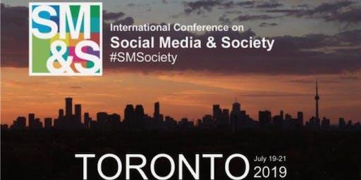 2019 International Conference on Social Media & Society (#SMSociety)