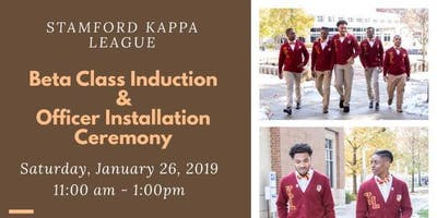 Stamford Kappa League Induction & Officer Installation Ceremony
