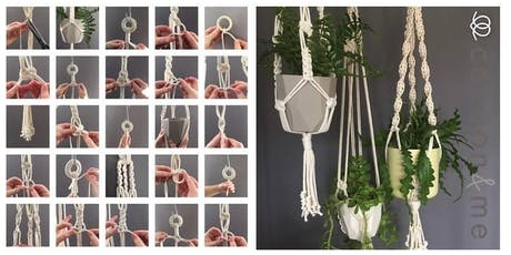 Macrame COCOON plant hanger workshop  - Chichester tickets