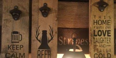 DIY Beer Opener Boards at Three Heads Brewing