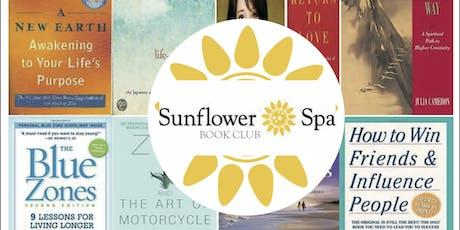 Sunflower Spa Book Club- June 18 - Cookbook tickets
