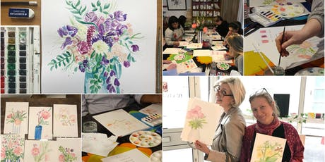 Make Your Own Watercolour Flowers Painting for Beginners! tickets