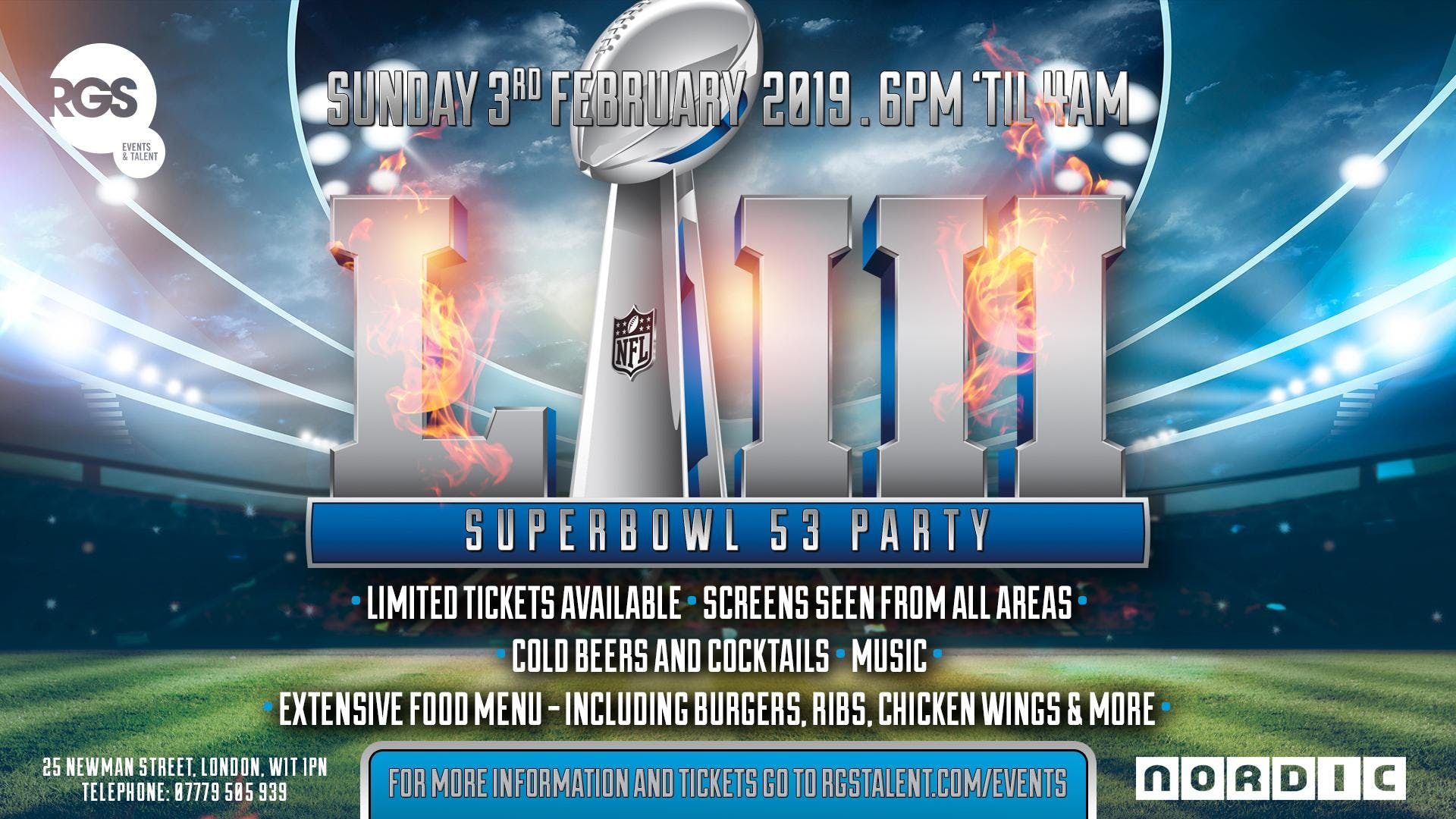 Superbowl 53 party in London
