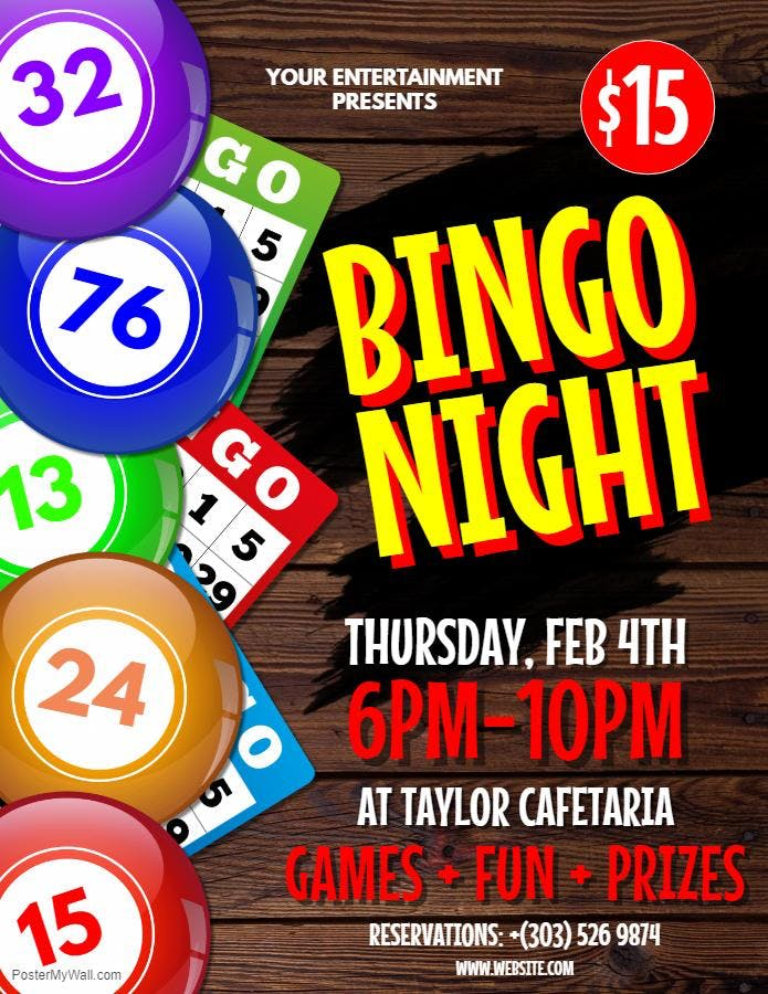 FIRHOUSE BINGO NIGHT!  Every Friday with Prizes to be Won!