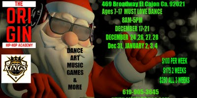 Holiday Hip Hop Camp for kids and Teens