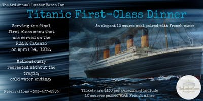 Titanic 1st Class Dinner: A 12-Course Replica Without the Cold Water Ending.