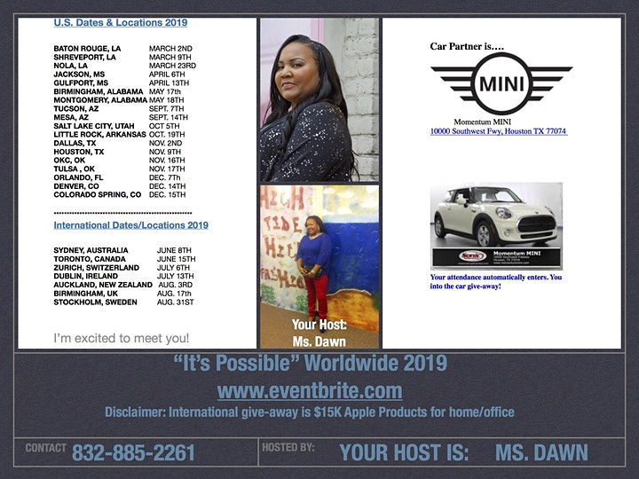"""""""It's Possible"""" Worldwide 2019 image"""