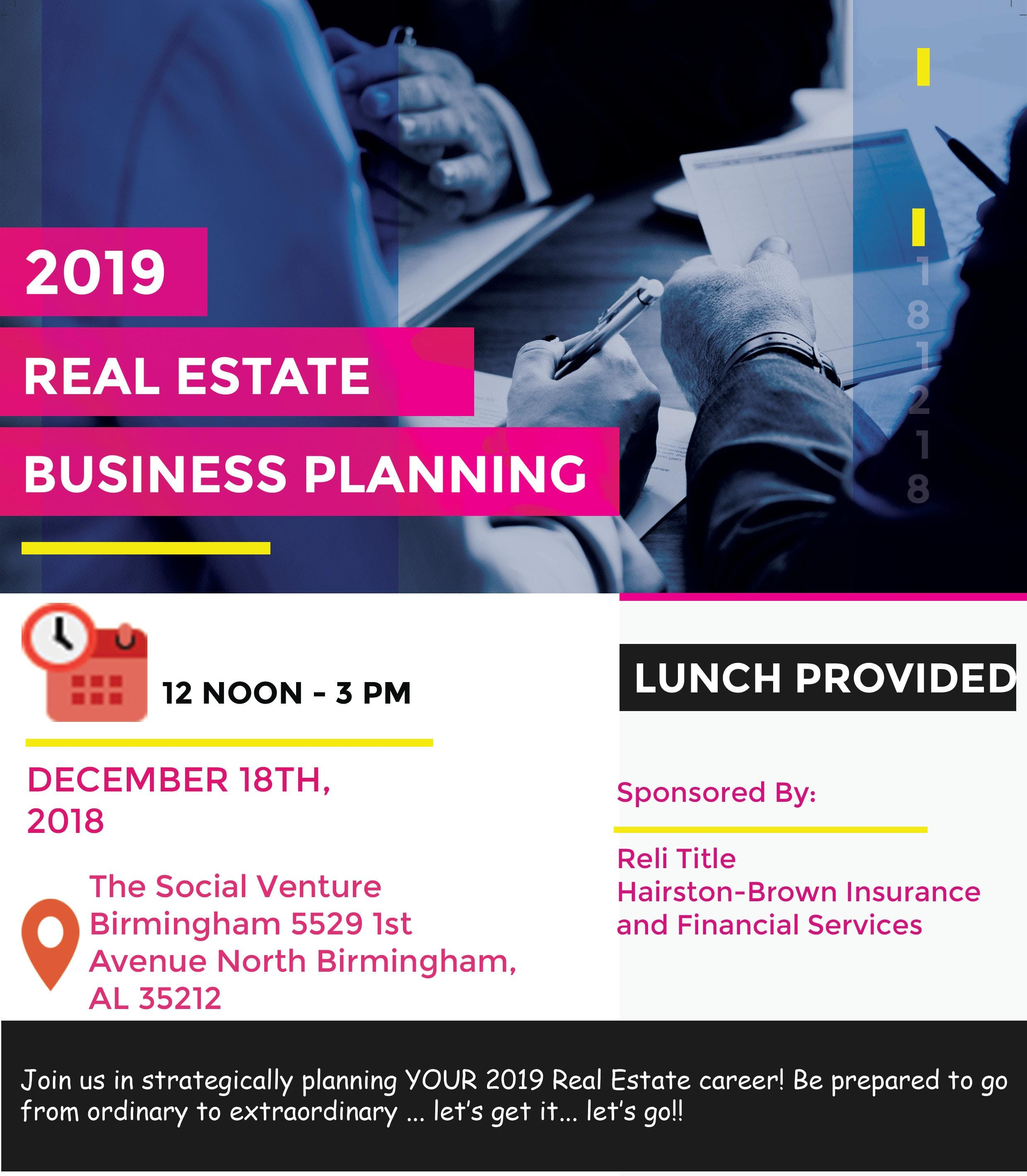 2019 Real Estate Business Planning