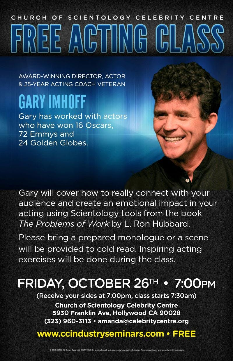 Meet Greet With Director Gary Imhoff 11 Jan 2019