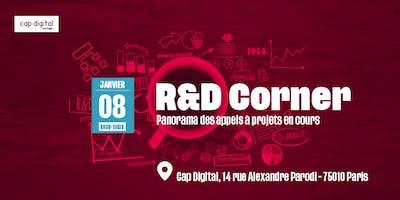 R&D CORNER - Janvier 2019