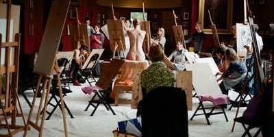 Life-Drawing and Painting in Leighton's studio